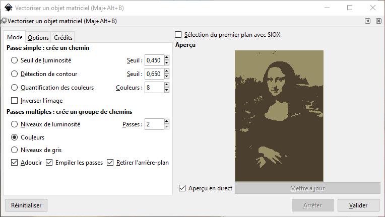 InkScape : Vectoriser une image avec 2 passes