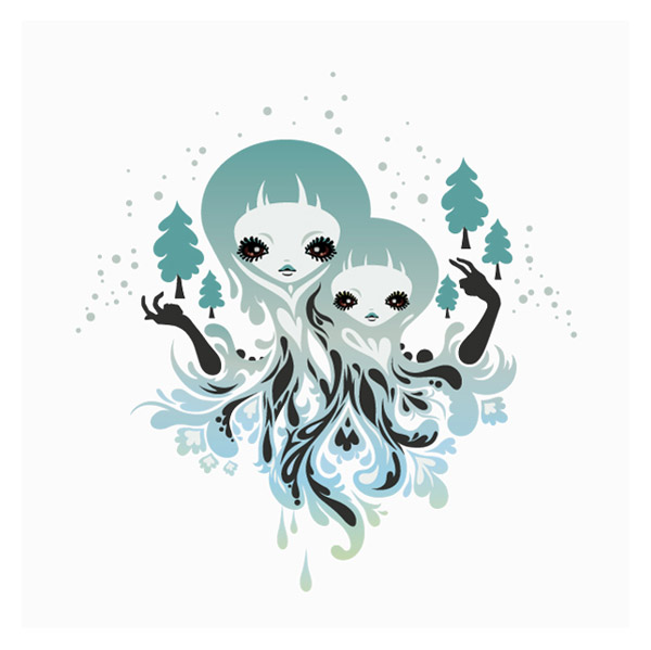 Winter Spirits tee print for LaFraise.com by zutto