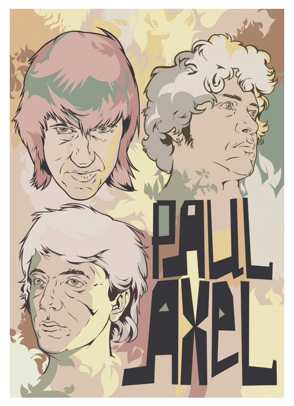 "poster for band ""paul axel"" by andrey smirny"