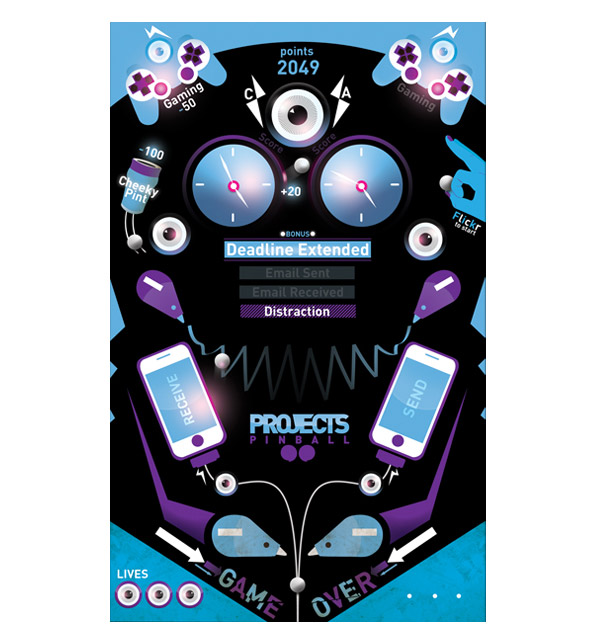 Computer Arts Projects, iphone pinball app by Ross Crawford
