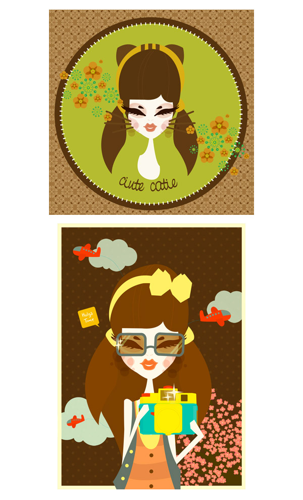vintage girl + lolita tea party + other by melani suryadinata