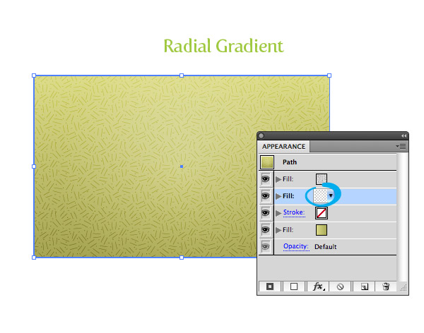 Pattern Fill Texture Step 3