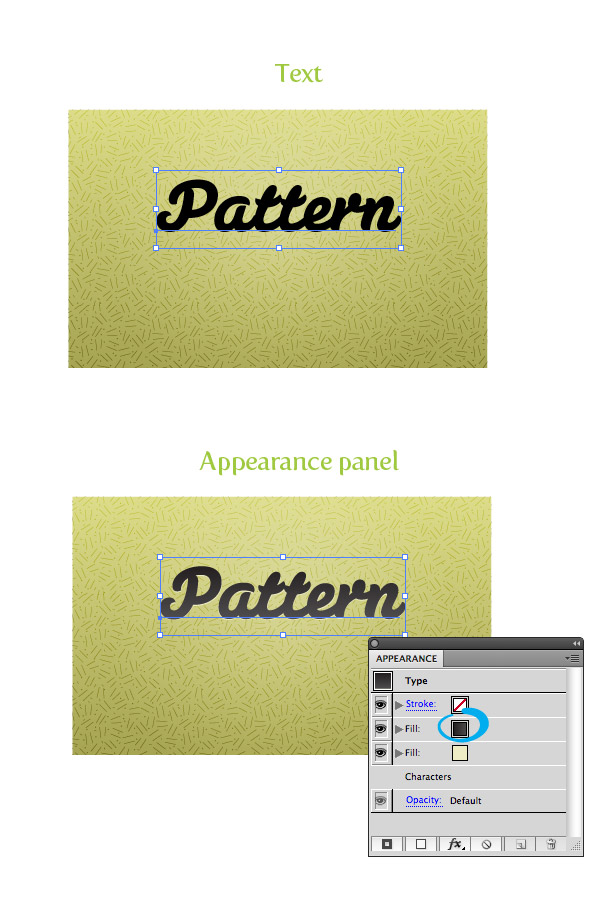 Pattern Fill Texture Step 4