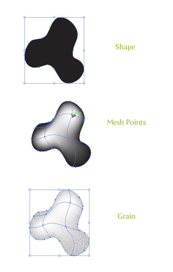 Gradient Mesh Grain