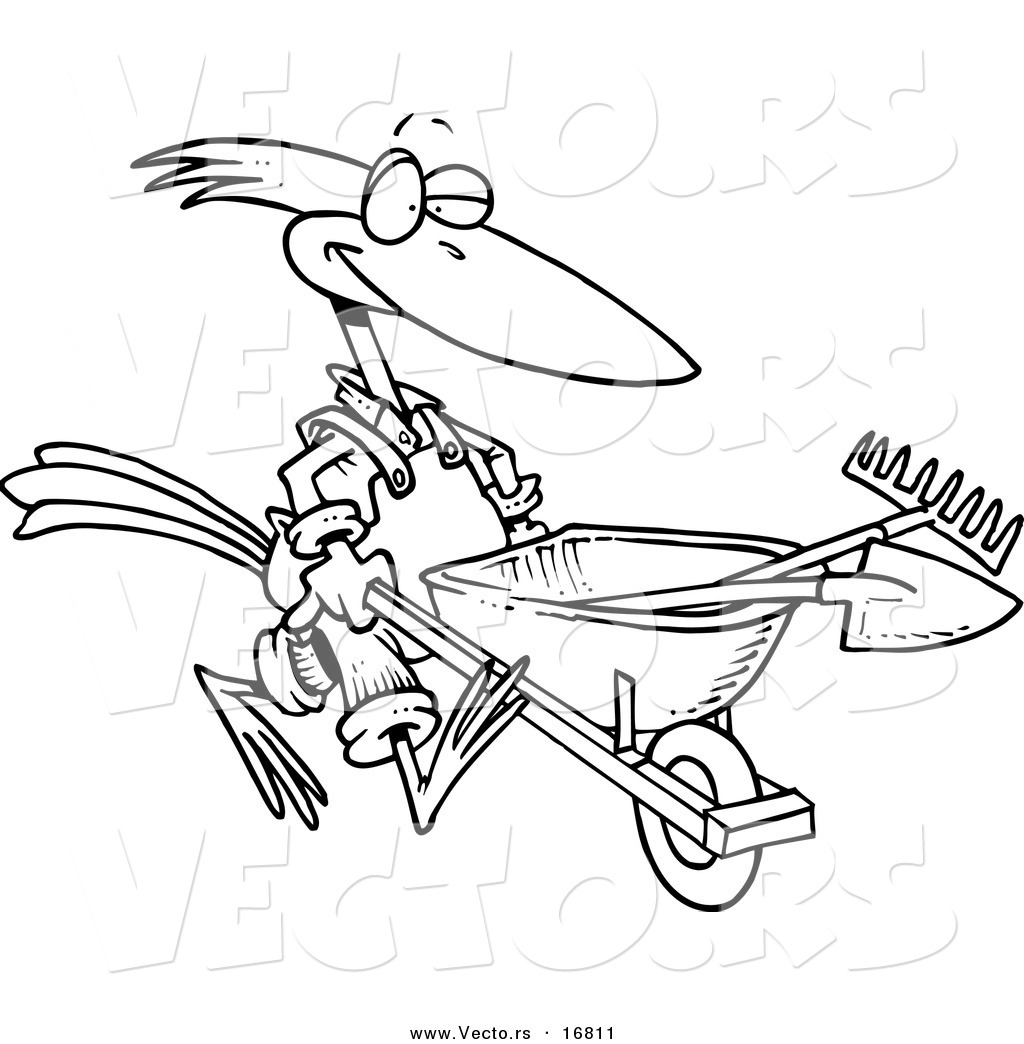 Wheelbarrow Coloring Page Coloring Pages
