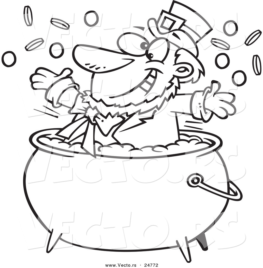 Larger Preview Vector Of A Cartoon Black And White