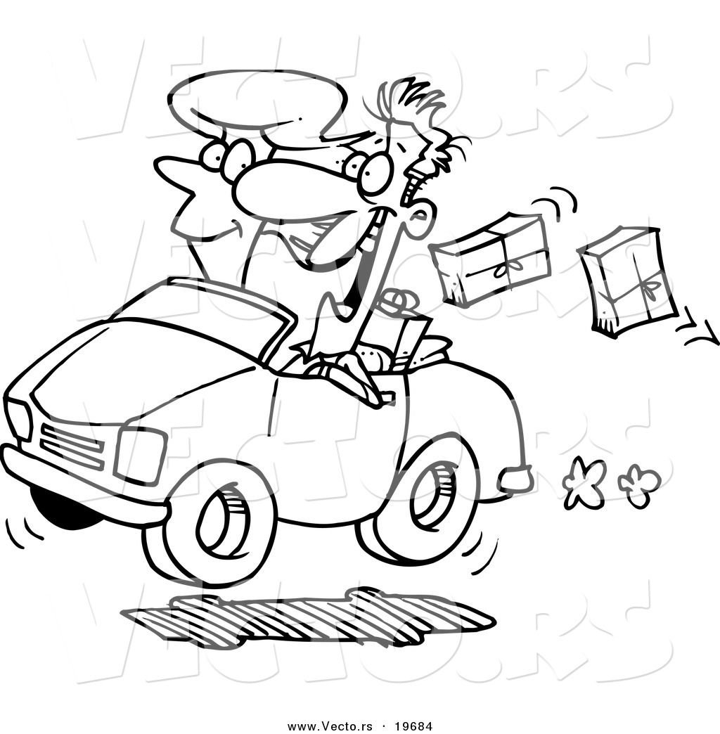 dropping packages outlined coloring page by ron leishman 19684