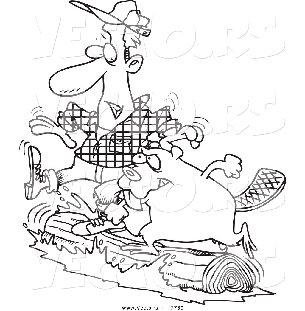Log Cabin Printable Coloring Page