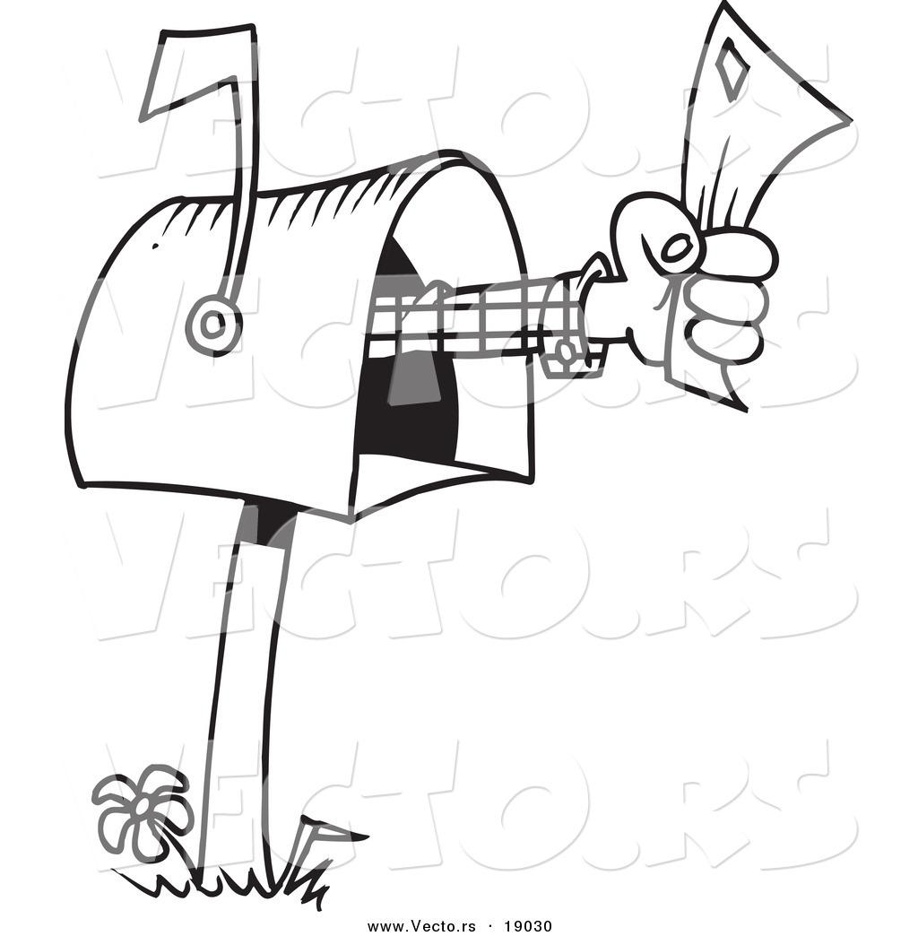 Vector Of A Cartoon Mailbox