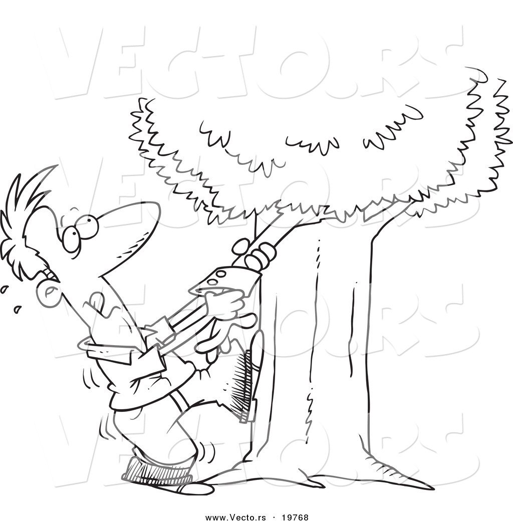 Vector Of A Cartoon Man Tugging An Arm From His Family
