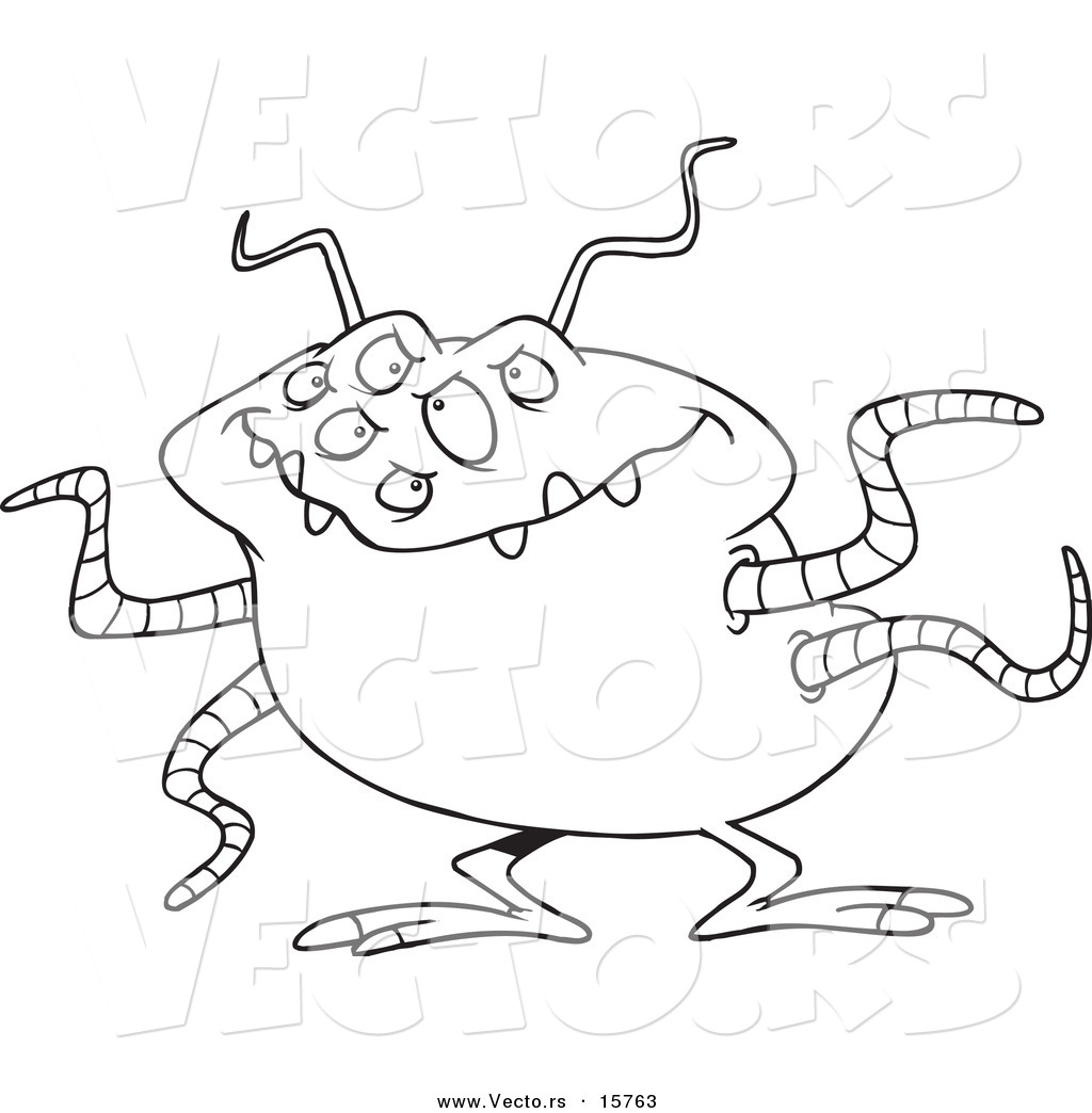Vector Of A Cartoon Menacing Alien