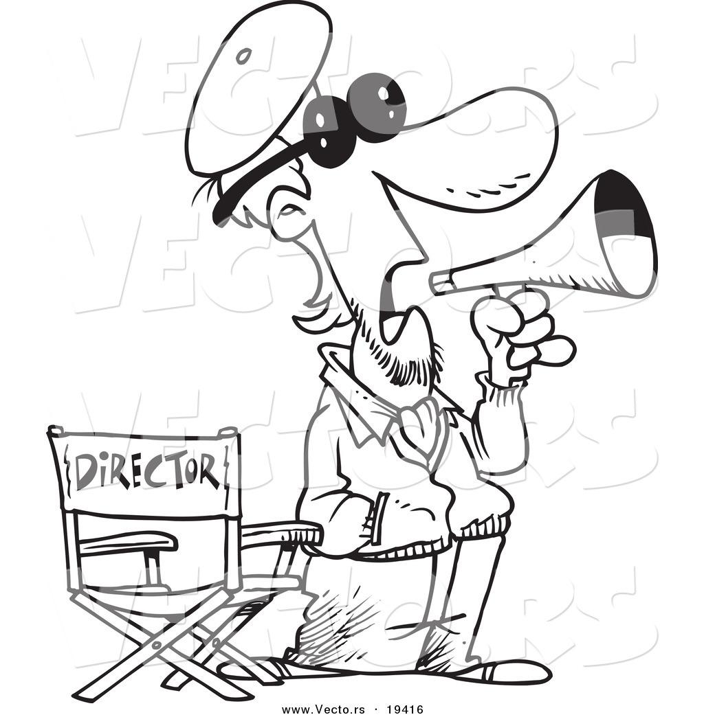 Vector Of A Cartoon Movie Director
