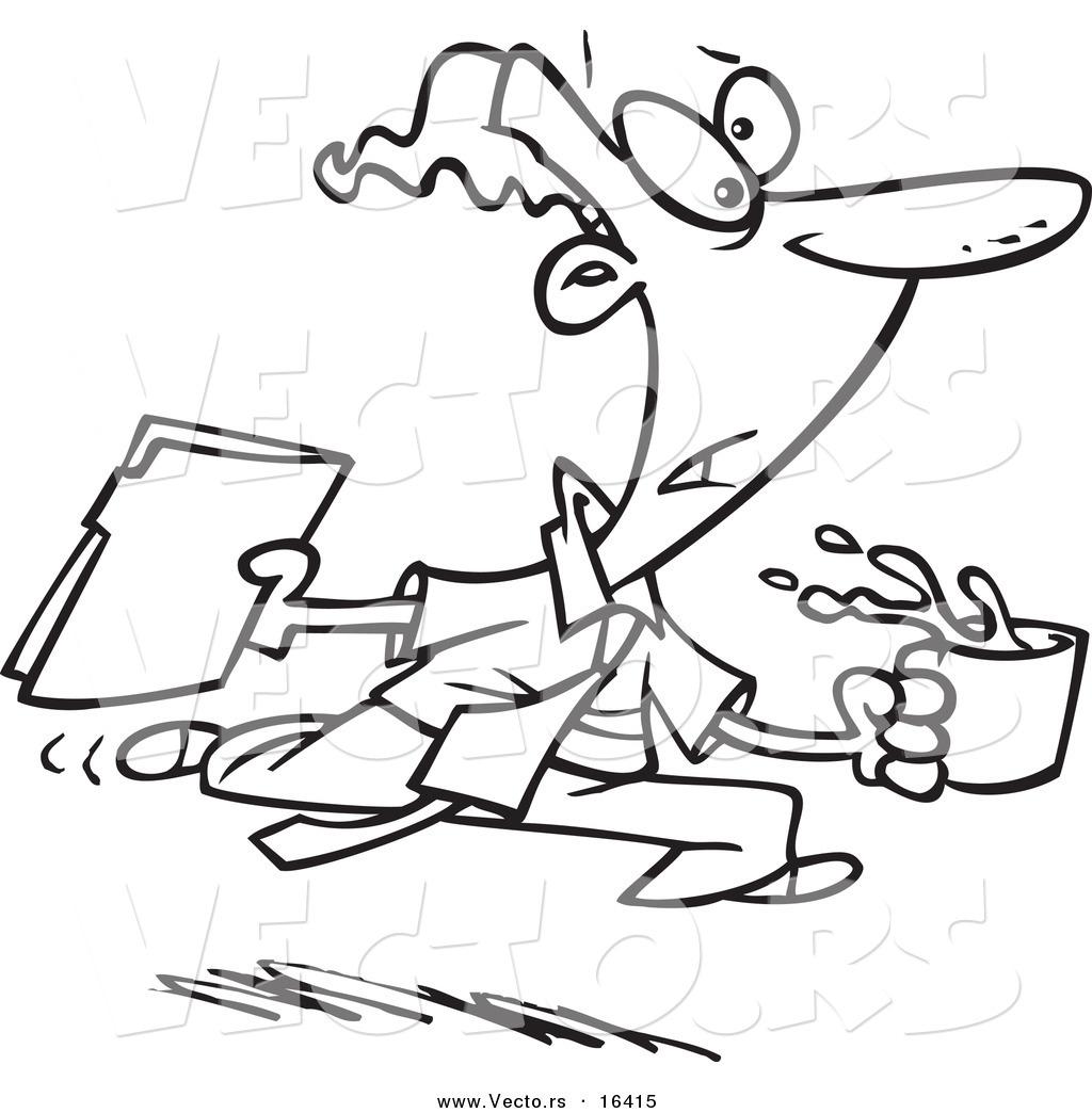 Vector Of A Cartoon Office Gofer Assistant