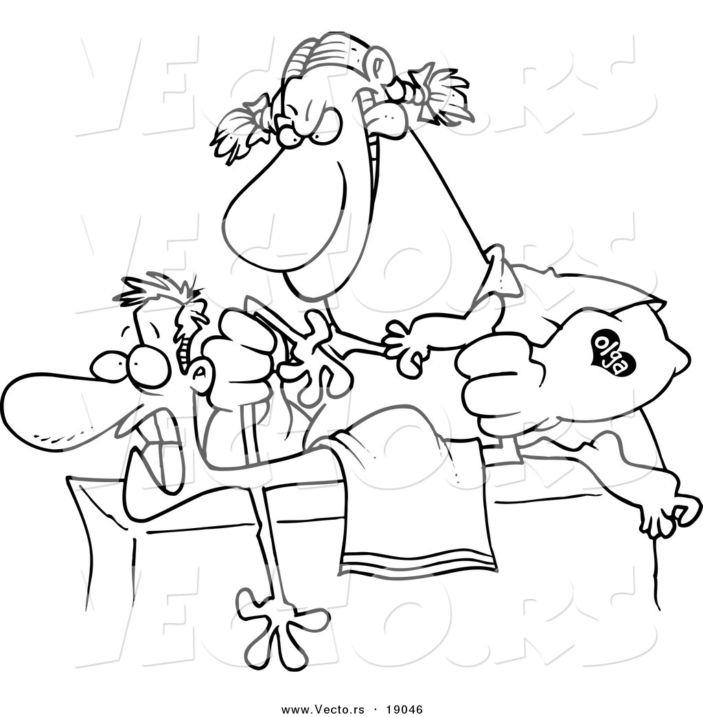 Vector Of A Cartoon Rough Female Massage Therapist