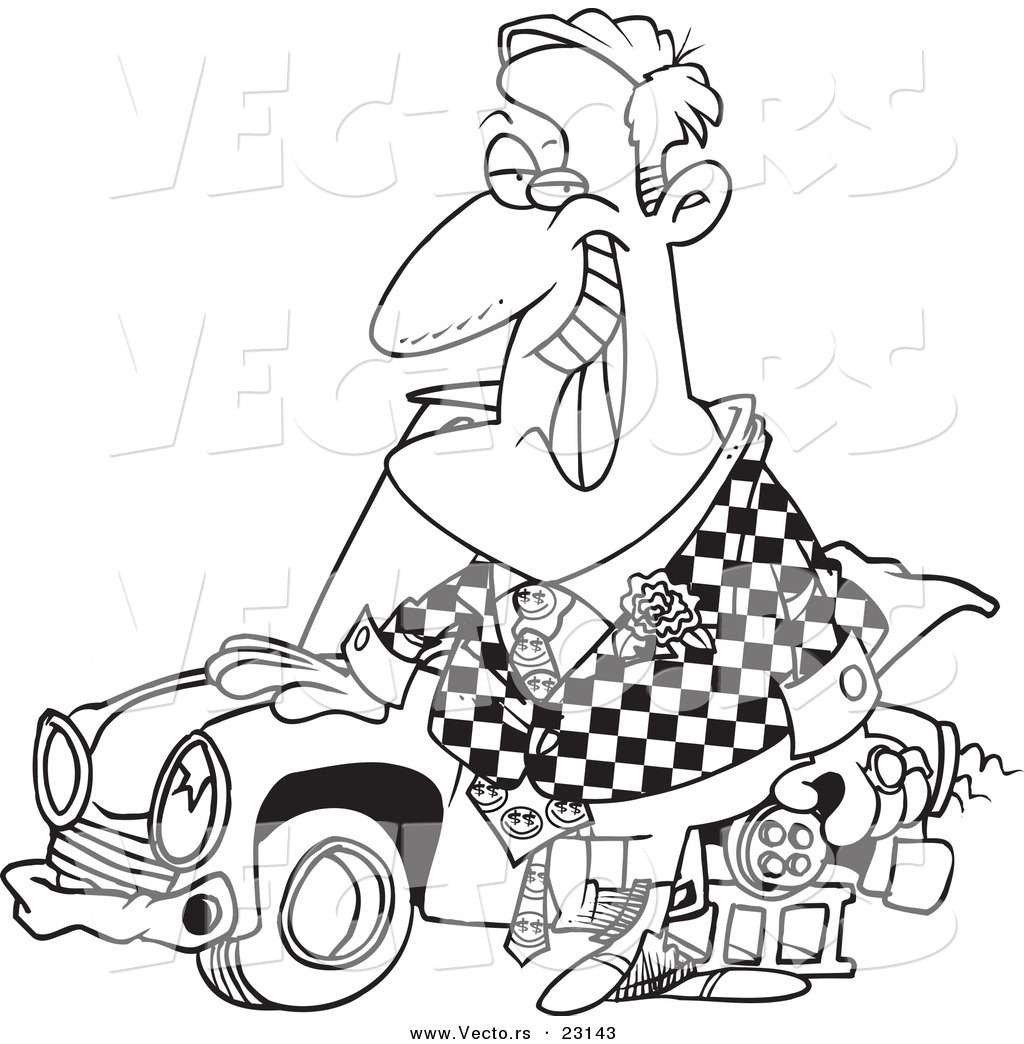 Driving Fast Cartoon