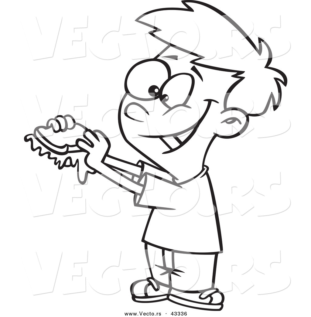 Girls Eating Colouring Pages Sketch Coloring Page