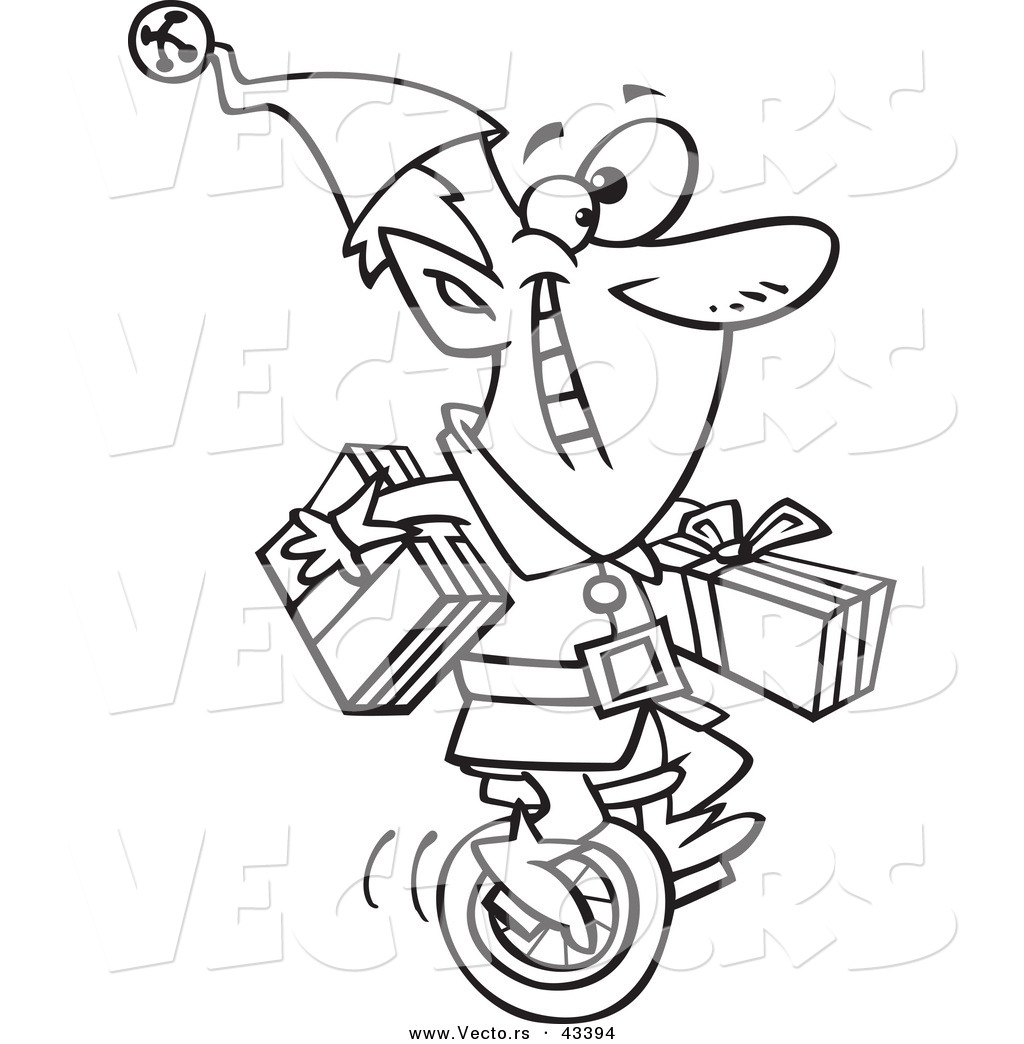 Cartoon Vector Of Cartoon Guy Skipping Rope Coloring Page Outline