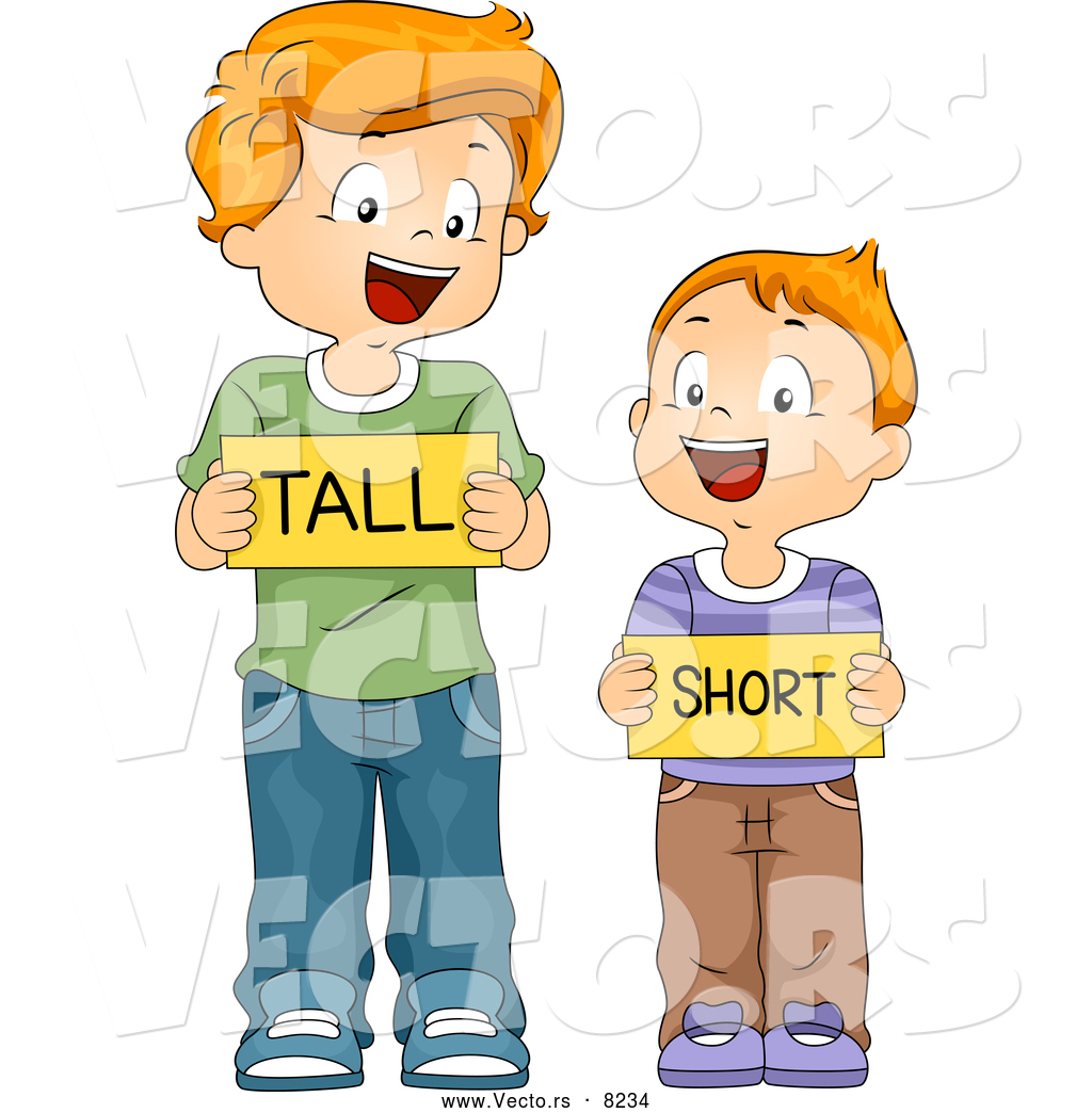 larger preview vector of happy cartoon school boys holding tall and