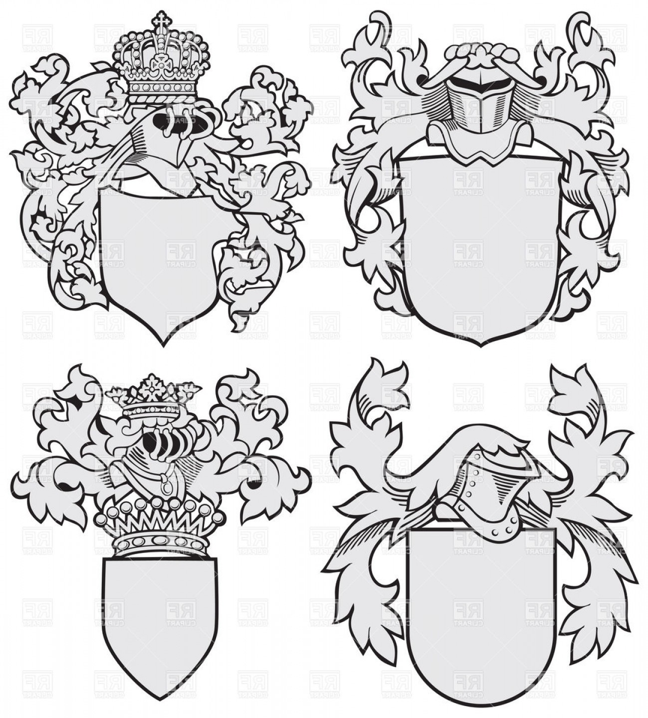 Coat Of Arms Template Vector At Vectorified