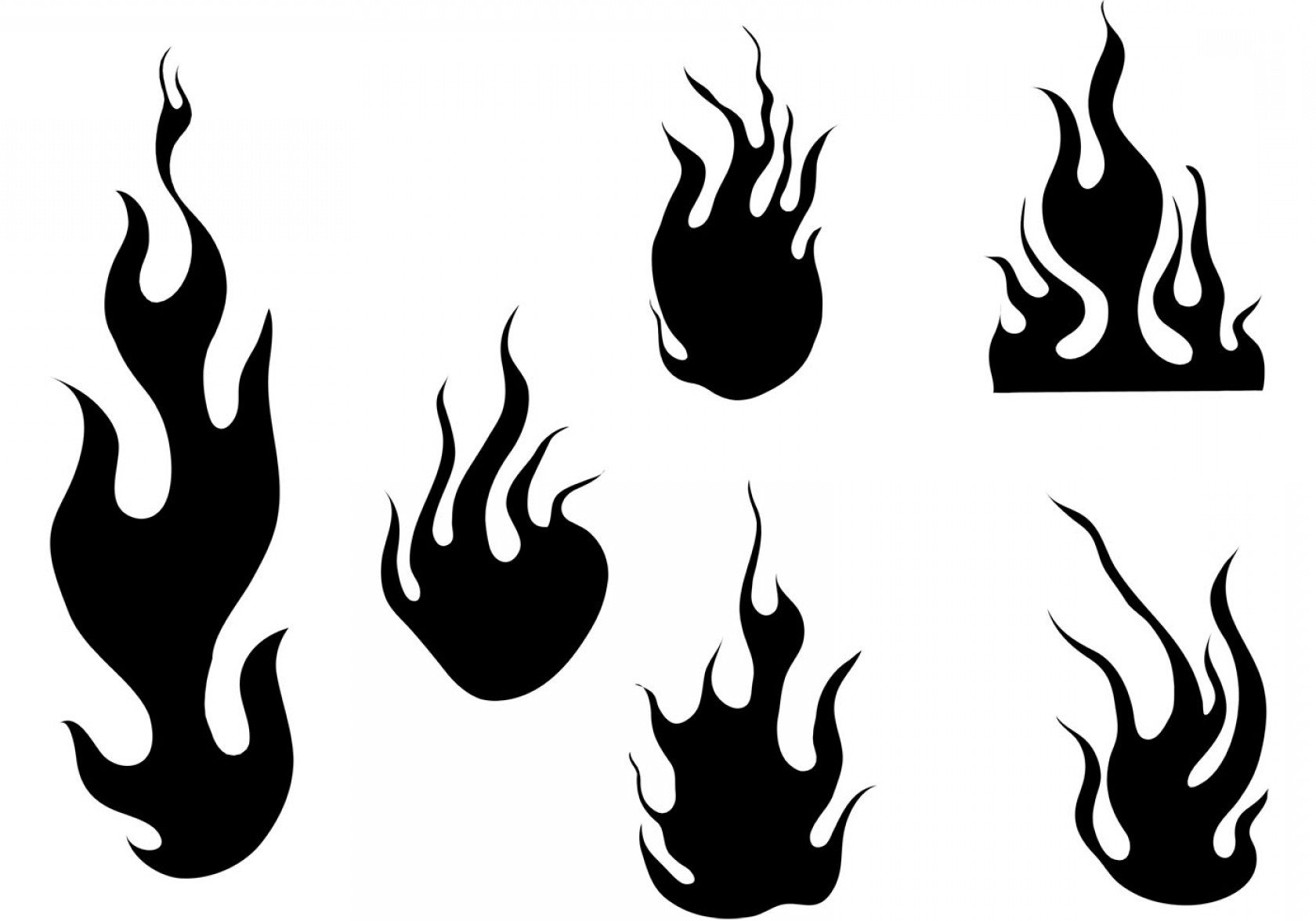 Flame Silhouette Vector At Vectorified