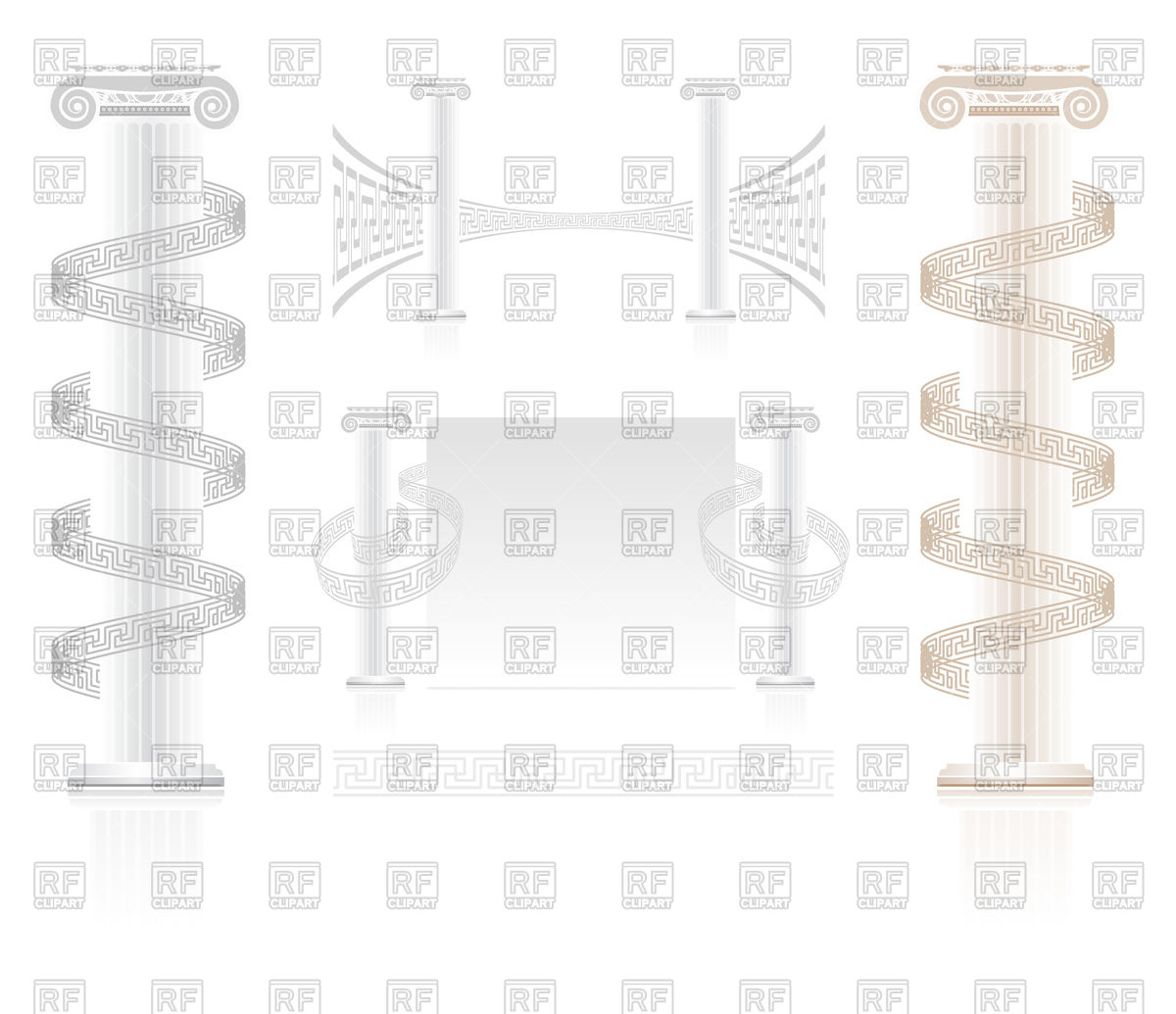 Ionic Column Vector At Vectorified