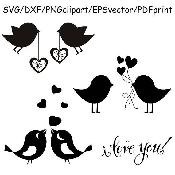 Download Love Bird Silhouette Vector at Vectorified.com ...