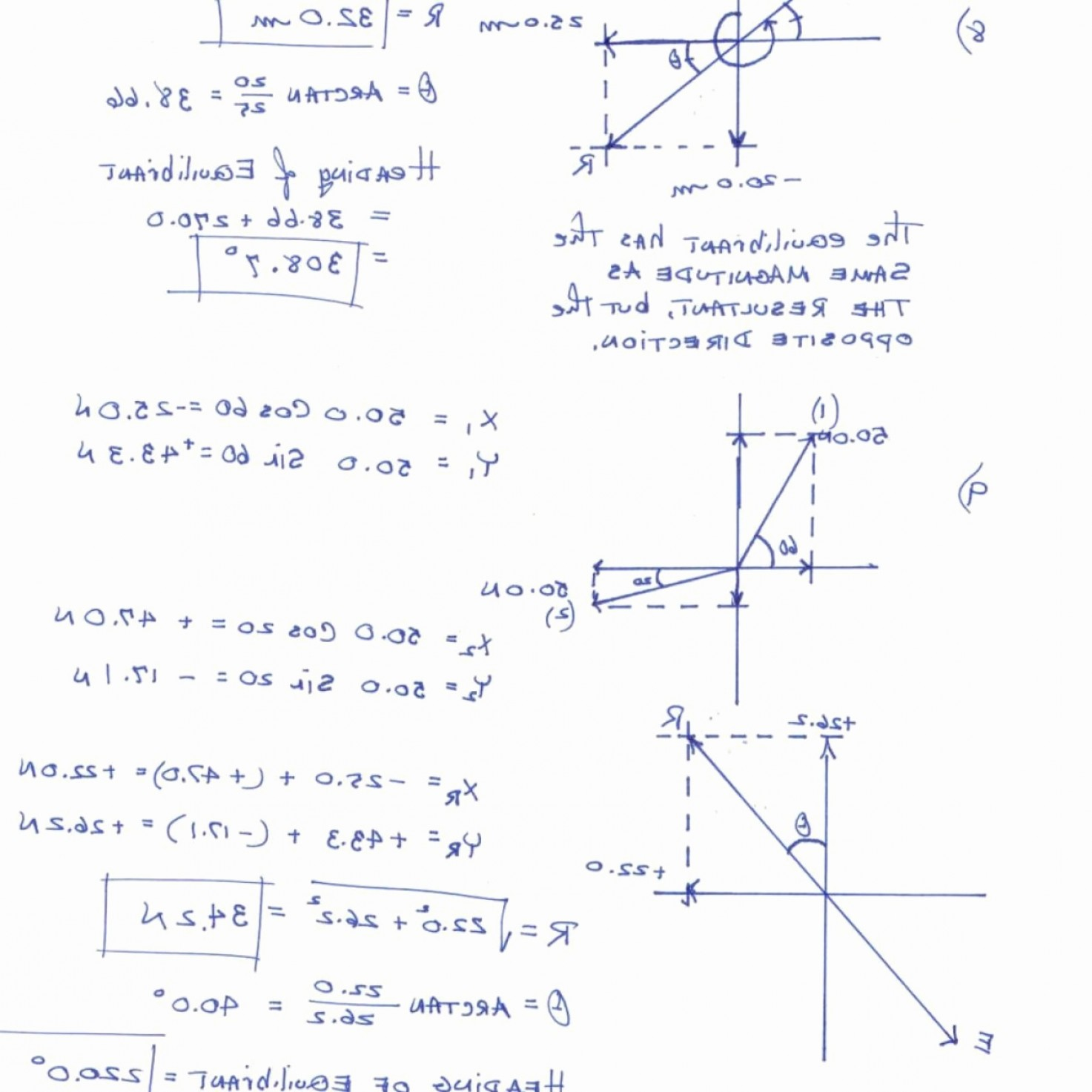 Worksheet Combining Vectors Graphically Answer Key