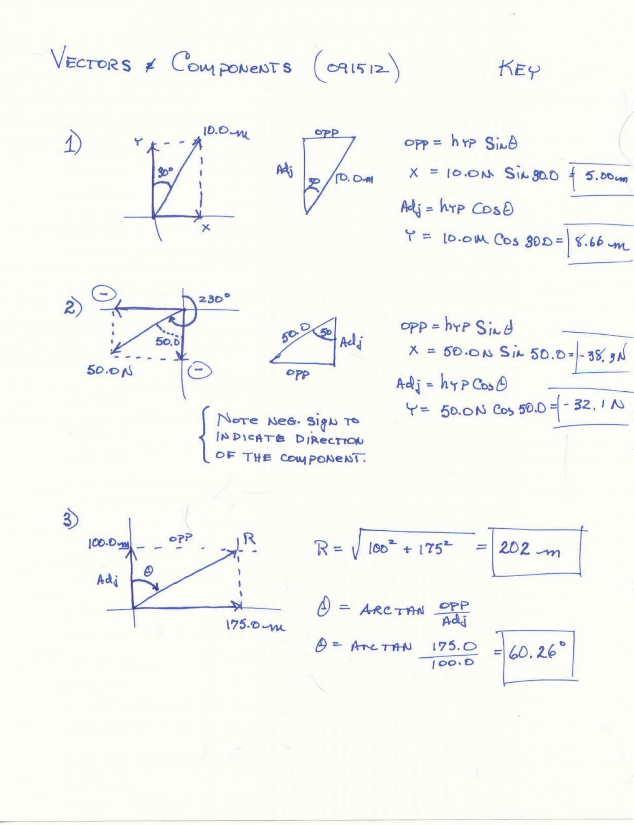 Physics Vector Worksheet At Vectorified