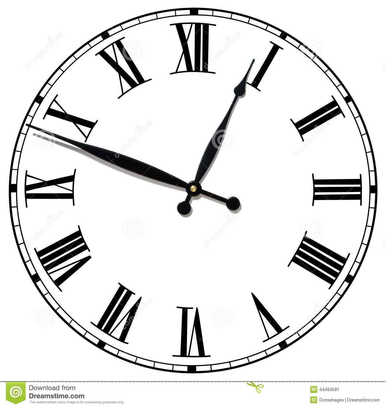 Roman Numeral Clock Face Vector At Vectorified