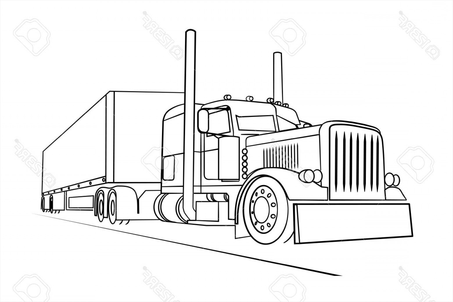 Truck Outline Vector At Vectorified