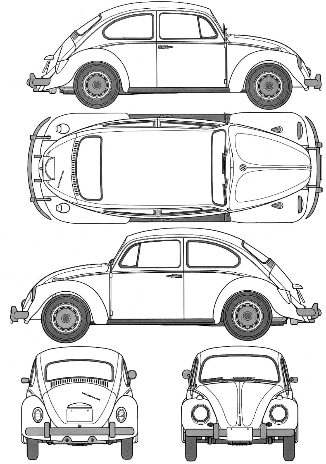 Vw Bug Vector At Vectorified