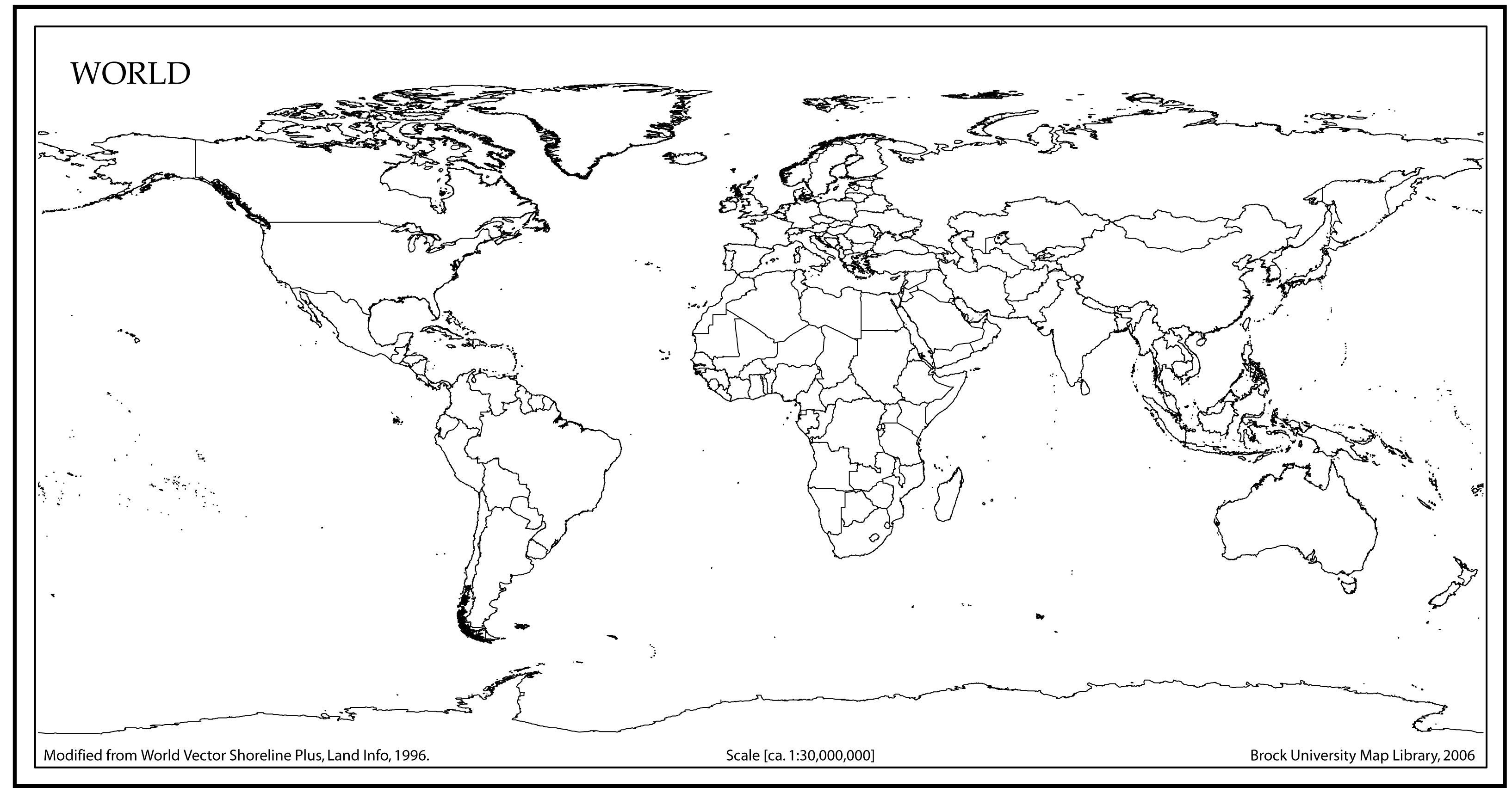 World Map Outline High Resolution Vector At Vectorified
