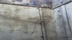 Пример конструкции с участком недовибрированного бетона