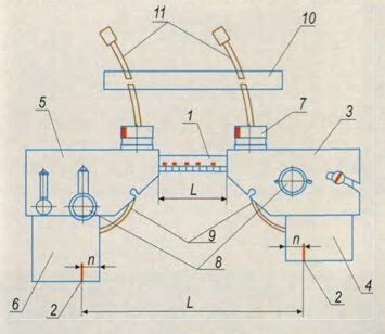 Схема механического устройства системы МАСКА