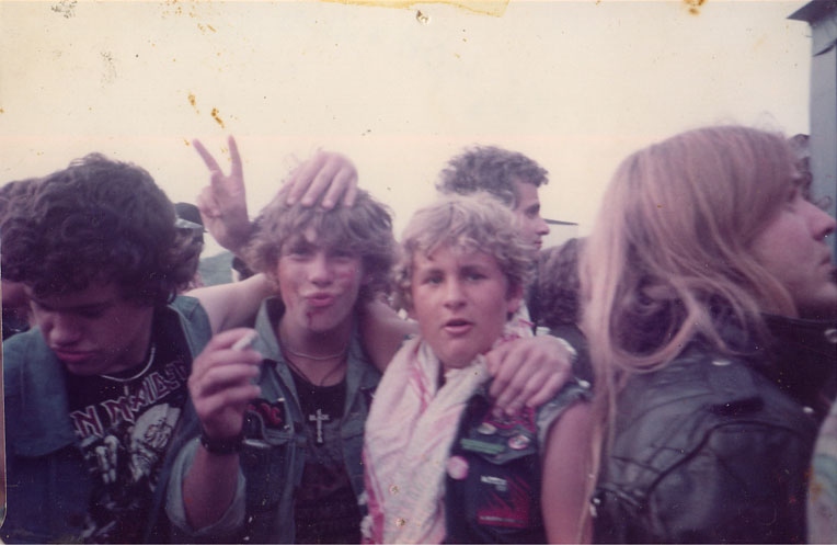 Reading Rock fest approx 1985, ( I'm the one on centre right )