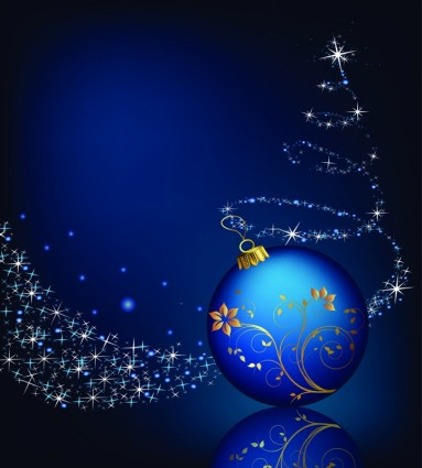 Christmas Ball Floral Background Vector Ai Svg Eps