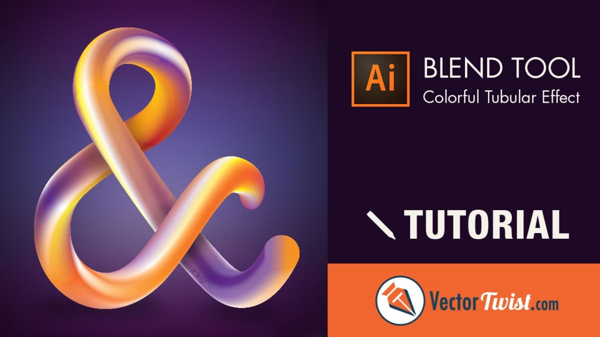 Illustrator Blend Tool - How to Create a Colorful Tubular Effect