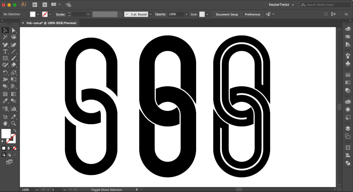 How to Create  Chain Link Icon in Adobe Illustrator CC