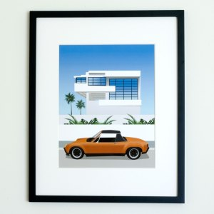 Lovell Beach House Porsche 914