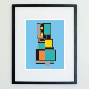 Colorblock Structure Print No 2