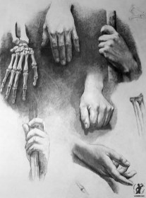Drawing In The High Art School book - pencil hand anatomy