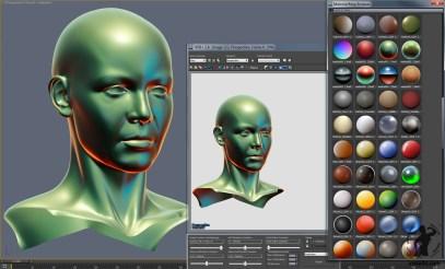 Lit Sphere in 3dsmax viewport directx mental ray screenshot-2