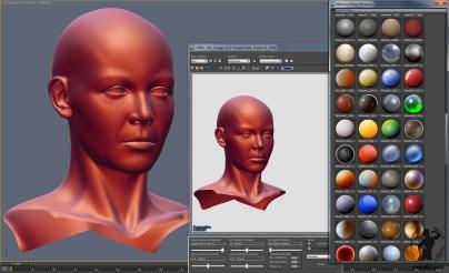 Lit Sphere in 3dsmax viewport directx mental ray screenshot