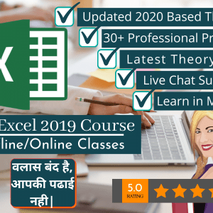 MS Excel 2020 Updated Project Based Class By VedantSri