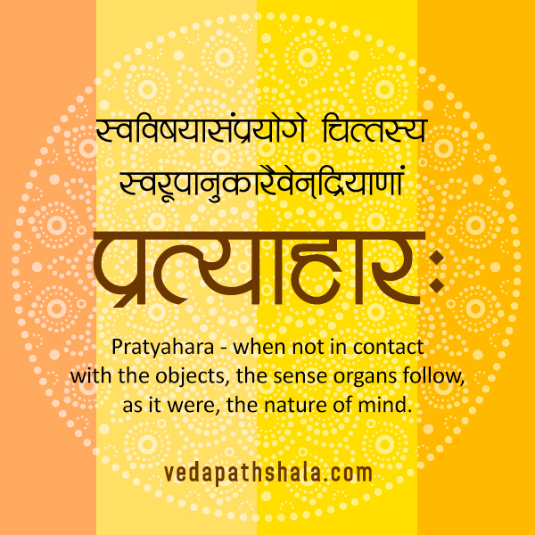 Patanjali Yoga Sutra On Pratyahara - The fifth limb of Ashtanga Yoga