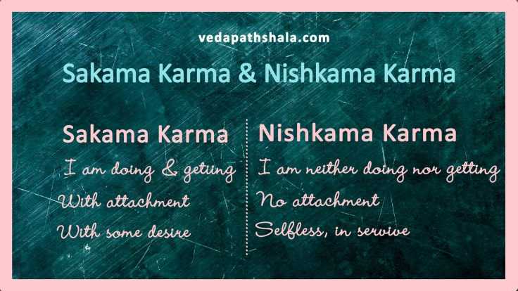 Sakama karma & Nishkama karma - karma with desires and no desire
