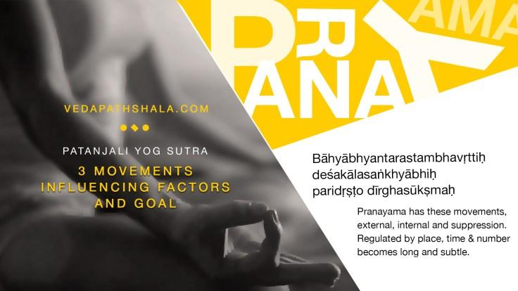 The Second Yoga Sutra on Pranayama