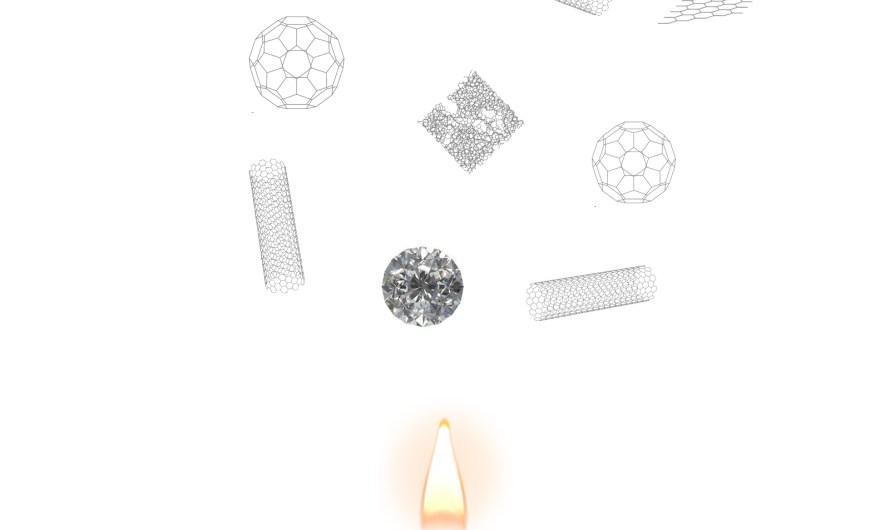 Pri horení sviečky vznikajú (nano)diamanty
