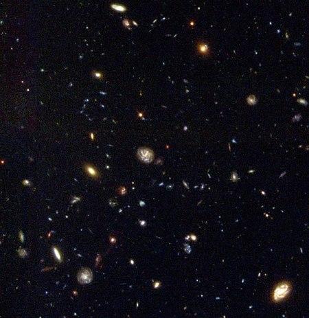 Hubble deep field, južná obloha.