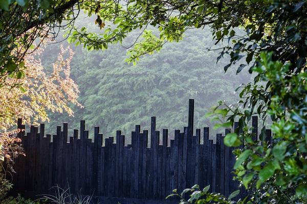 Veddw Fence, copyright Charles Hawes